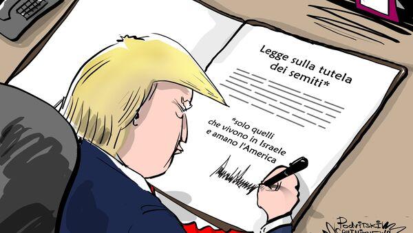 Trump firma la legge sulla lotta contro l'antisemitismo in Europa - Sputnik Italia