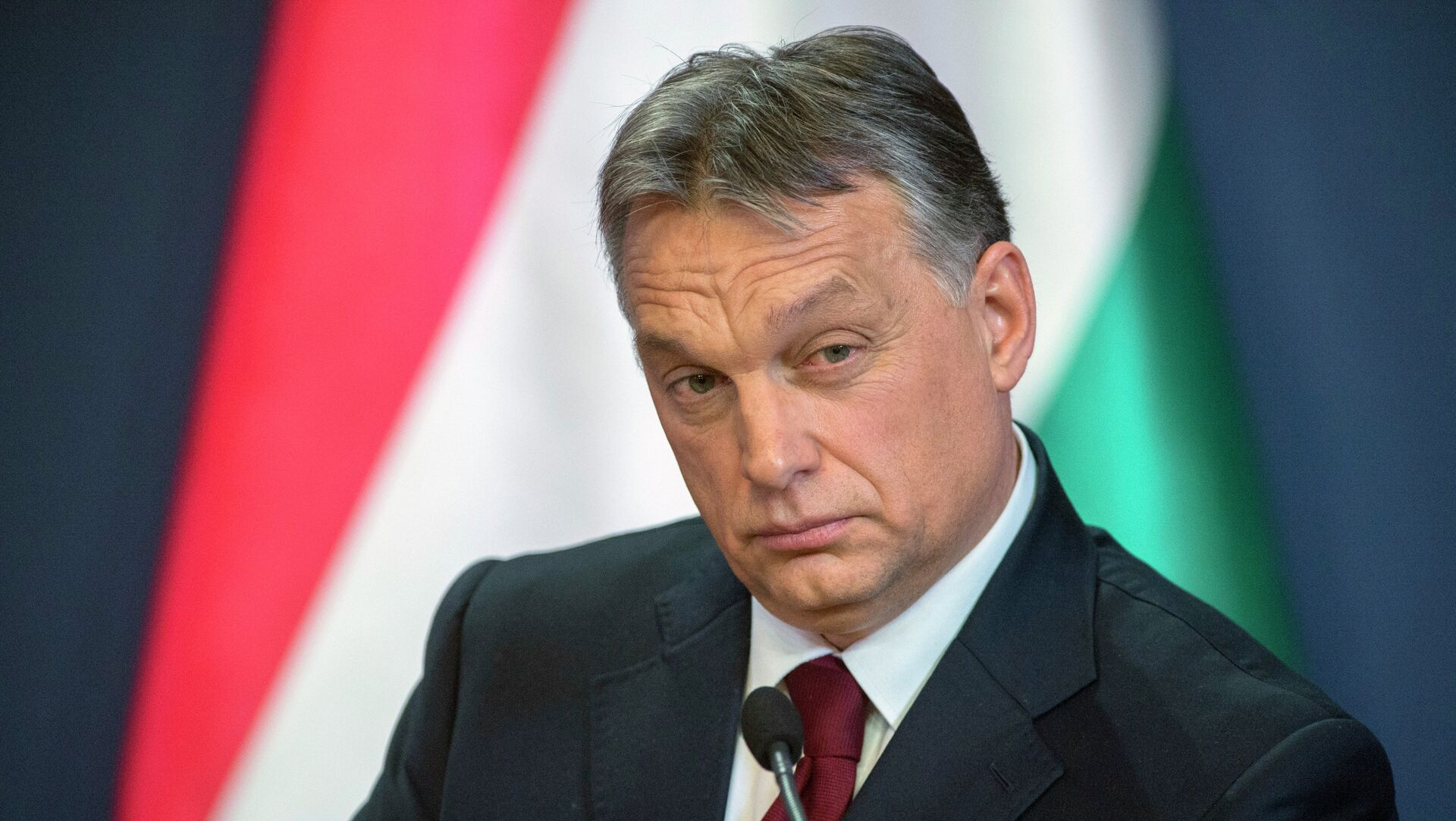 Hungarian Prime Minister Viktor Orban during press conference in the Parliament building in Budapest - Sputnik Italia, 1920, 25.02.2021