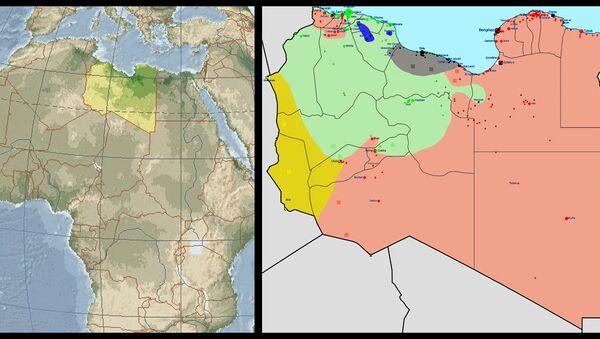 Situazione in Libia nel 2015 (schematizzata) - Sputnik Italia