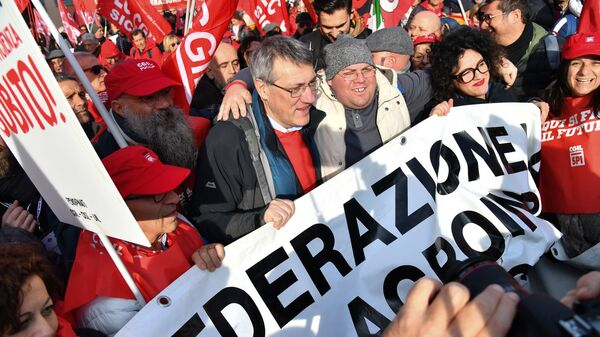 Manifestazione sindacati, Roma - Sputnik Italia