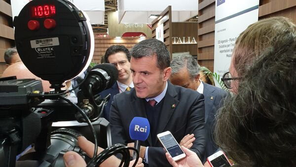 Ministro Centinaio a Mosca - Sputnik Italia