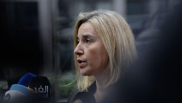 EU foreign policy chief Federica Mogherini speaks to the press  - Sputnik Italia
