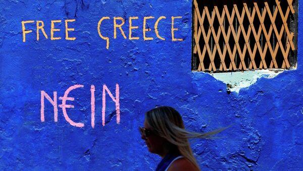 Graffiti sulle strade di Atene - Sputnik Italia