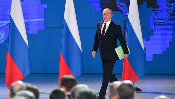 Il discorso del presidente Putin di fronte all'Assemblea Federale 2019 - Sputnik Italia