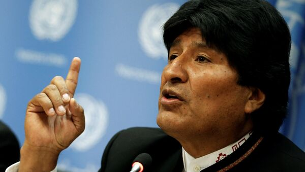 Bolivia's President Evo Morales speaks at a news conference after addressing a United Nations General Assembly special session. - Sputnik Italia