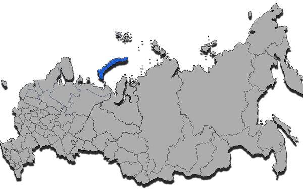 Novaya Zemlya, mappa amministrativa - Sputnik Italia