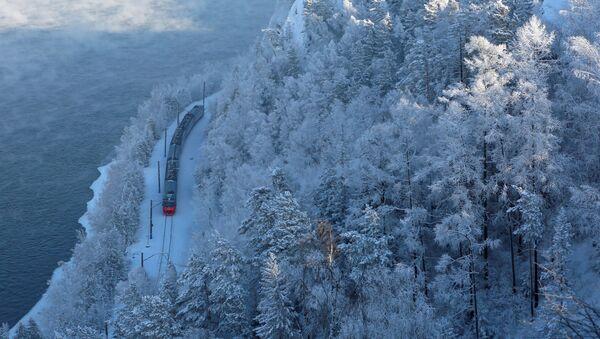 Treno passeggeri d'inverno - Sputnik Italia