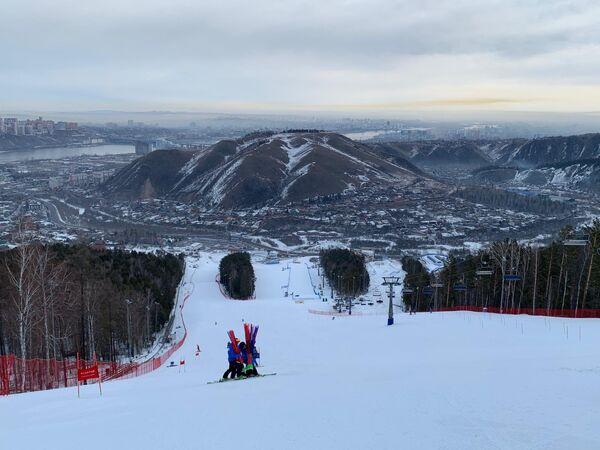 Le piste di Bobroviy Log, sede delle gare di Sci Alpino alle Universiadi di Krasnoyarsk 2019 - Sputnik Italia