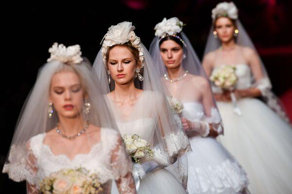 La presentazione della collezione di Dolce & Gabbana alla Settemana della moda di Milano. - Sputnik Italia