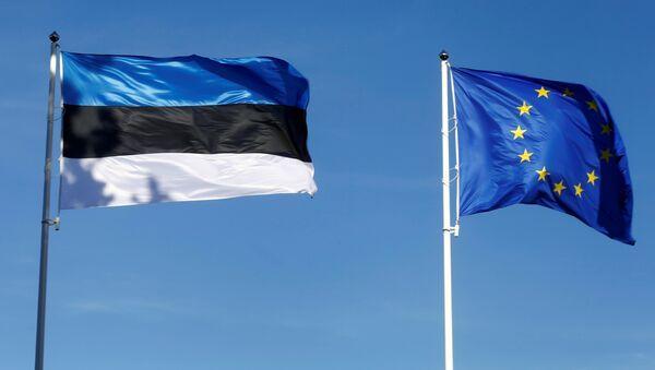 Estonia's and EU flags flutter in Tallinn, Estonia, June 29, 2017. - Sputnik Italia