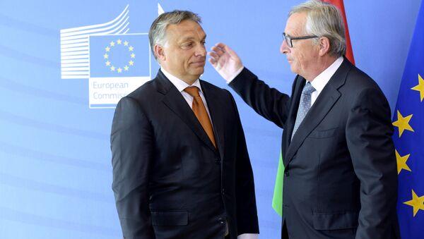 Viktor Orban incontra Jean-Claude Juncker - Sputnik Italia