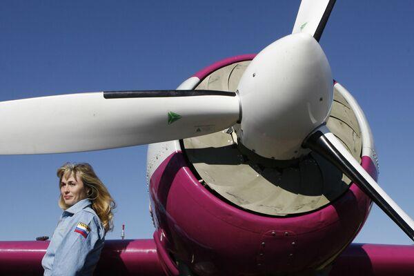 La pilota russa Svetlana Kapanina. - Sputnik Italia