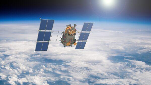 Artist's rendering of a Russian Canopus-B satellite in Earth orbit. - Sputnik Italia