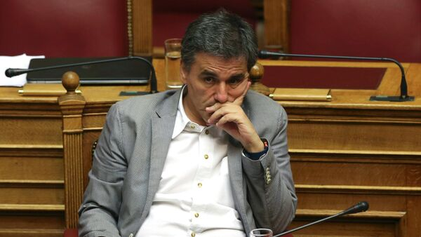 Il Ministro di Finanze greco Euclid Tsakalotos - Sputnik Italia