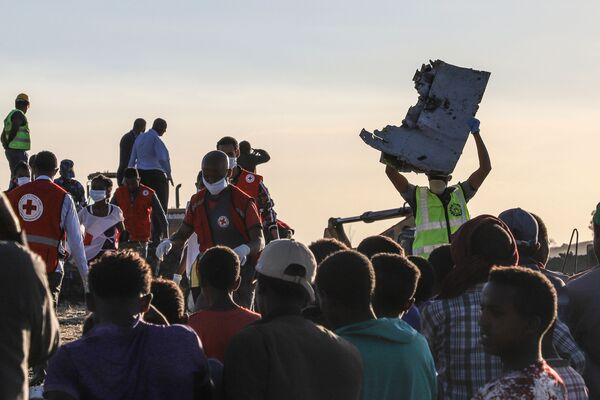 Il posto dov'è accuaduto l'incidente aereo del Boeing 737 MAX in Etiopia. - Sputnik Italia