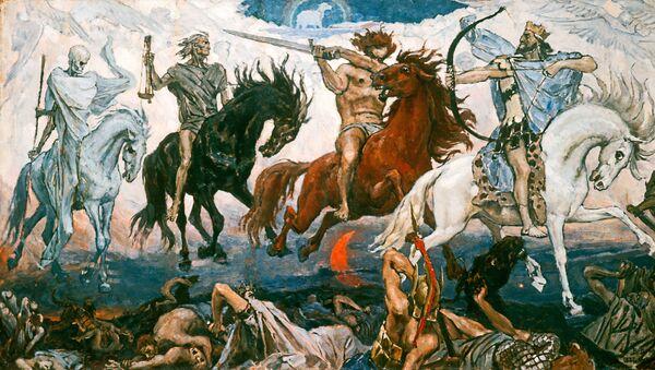 I Cavalieri dell'Apocalisse, quadro di V.M. Vasnetsov  - Sputnik Italia