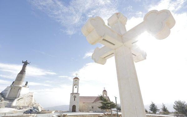 La statua di Gesù Cristo in Siria - Sputnik Italia