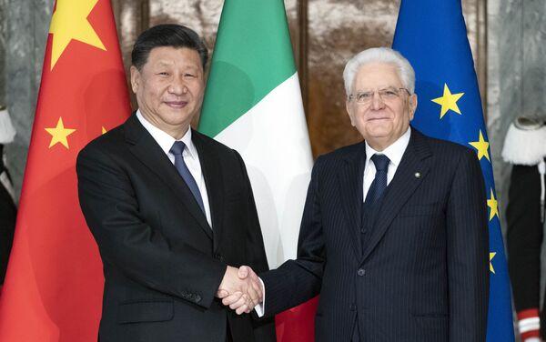 Incontro tra Xi Jinping e Sergio Mattarella a Roma - Sputnik Italia