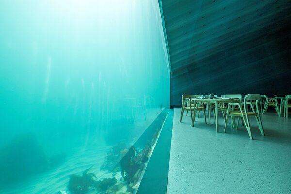 Tavoli vista mare nel ristorante Under - Sputnik Italia