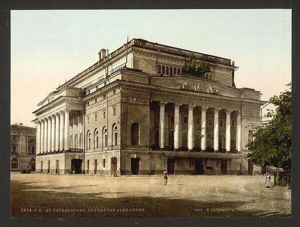 1916, Il teatro Aleksandrinskiy di San Pietroburgo, costruito dall'architetto Carlo Rossi - Sputnik Italia