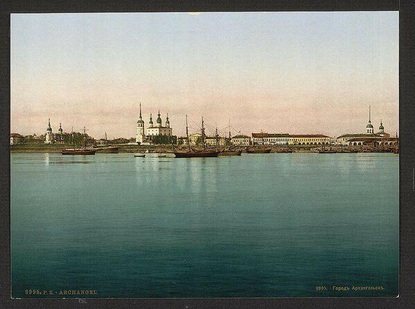 1905, Veduta di Archangel'sk, alla foce della Dvina nel mar Bianco - Sputnik Italia