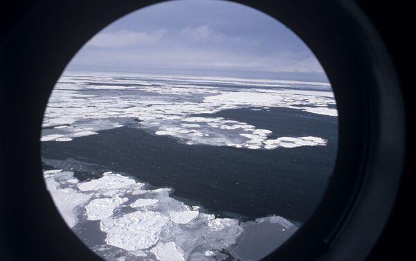 Stretto di Bering in inverno (prossimità delle isole Diomede) - Sputnik Italia