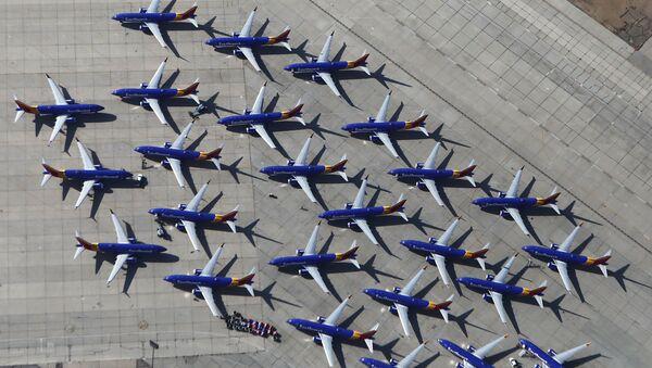 Gli aerei Southwest Airlines Boeing 737 MAX nell'aeroporto di Victorville, California. - Sputnik Italia