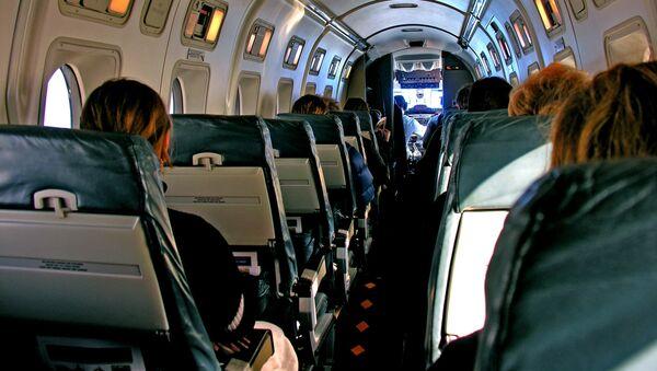 Cabina passeggeri di un aereo Beechcraft 1900 della compagnia Air New Zealand  - Sputnik Italia
