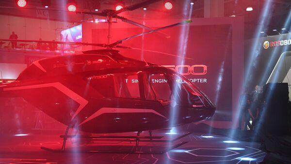 L'elicottero VRT 500 della Holding Vertolety Rossii (Russian Helicopters) ad HeliRussia 2018. - Sputnik Italia