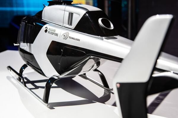 La linea dell'elicottero VRT500 è stata realizzata da Italdesign ispirandosi ad elementi automobilistici - Sputnik Italia