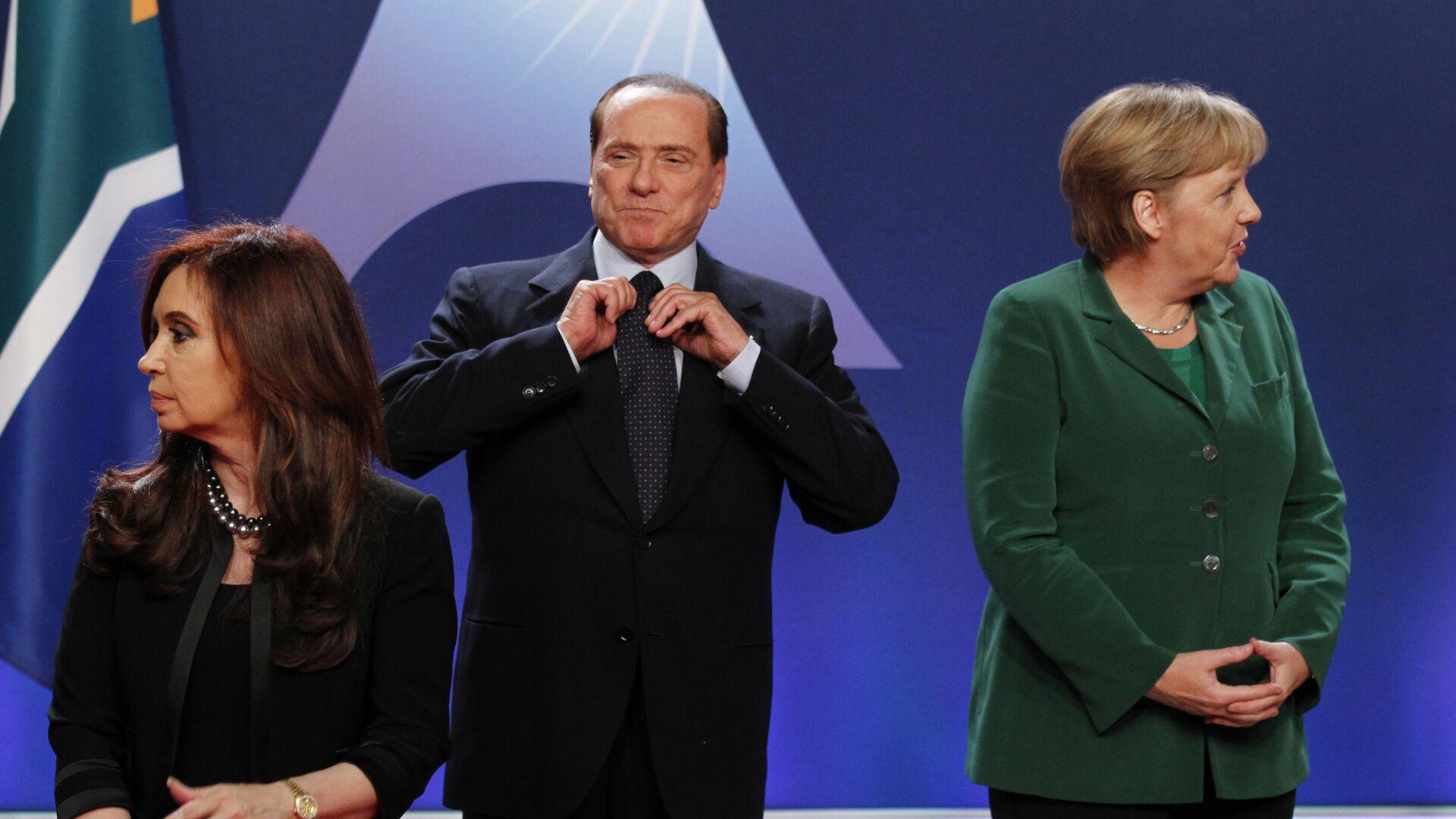 Berlusconi e Angela Merkel al G20 di Cannes del 2011 - Sputnik Italia, 1920, 27.09.2021
