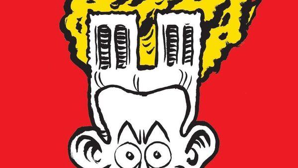 Vignetta di Charlie Hebdo dedicata all'incendio alla Cattedrale di Notre-Dame a Parigi - Sputnik Italia