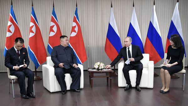Incontro tra Kim Jong-un e Vladimir Putin a Vladivostok - Sputnik Italia