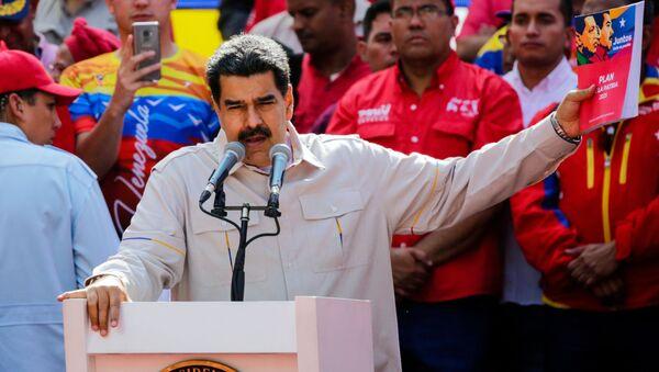 Nicolas Maduro all'azione di sostegno, Caracas, Venezuela - Sputnik Italia