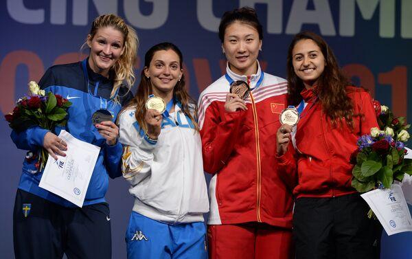 Il podio del Mondiale di spada - Sputnik Italia