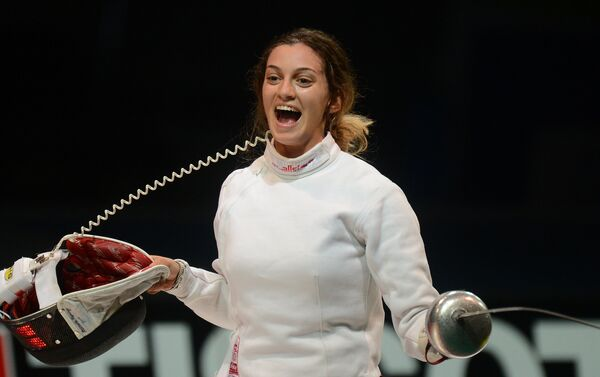 Rossella Fiamingo festeggia dopo il punto della vittoria - Sputnik Italia