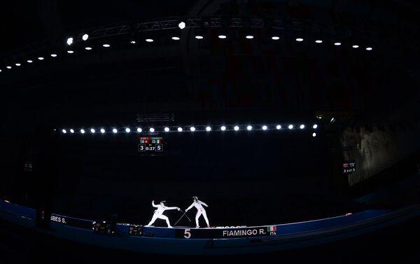 Un momento della semifinale tra Rossella Fiamingo e la tunisina Sara Besbes - Sputnik Italia