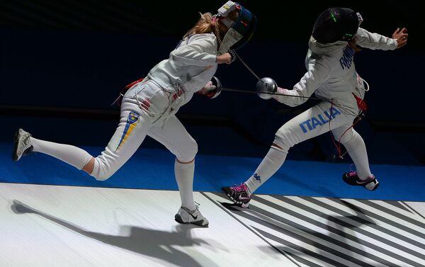 Uno degli ultimi assalti della finale tra Rossella Fiamingo e la svedese Emma Samuelsson - Sputnik Italia