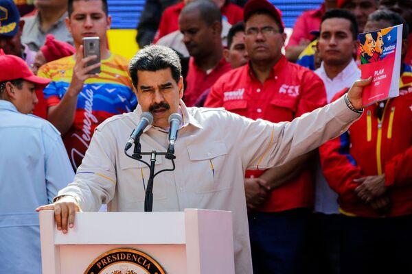 L'intervento del presidente venezuelano Nicolas Maduro a Caracas.  - Sputnik Italia