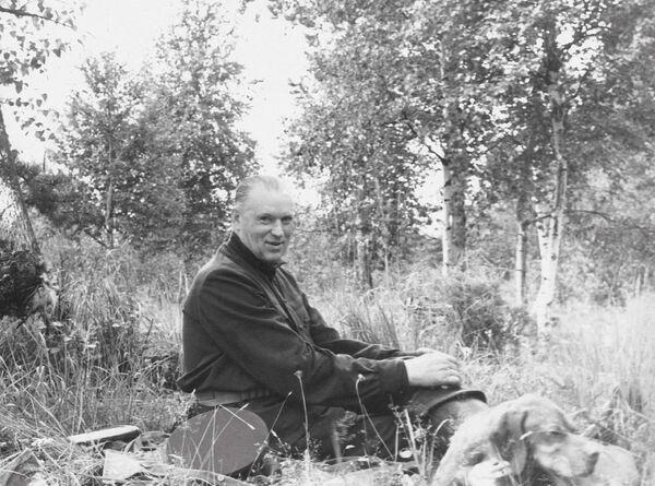Il maresciallo Konstantin Rokossovskiy a caccia, in una foto degli anni '60 - Sputnik Italia
