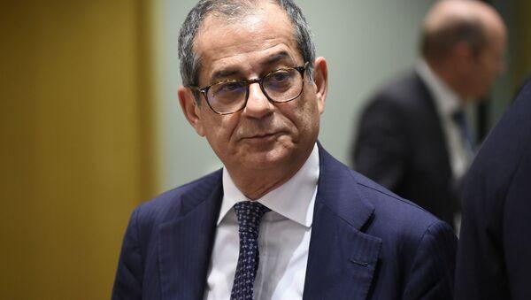 Il ministro dell'Economia e delle Finanze Giovanni Tria - Sputnik Italia