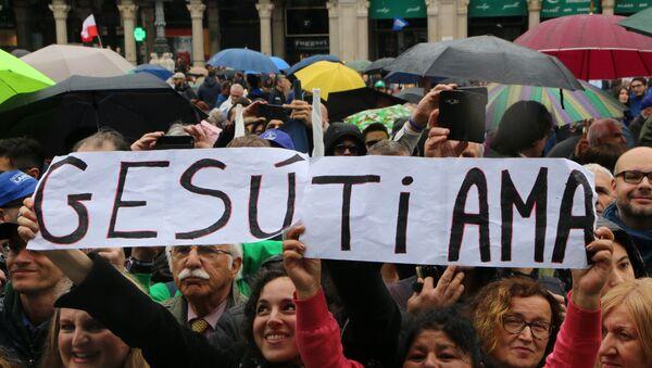 Comizio di Matteo Salvini a Milano - Sputnik Italia