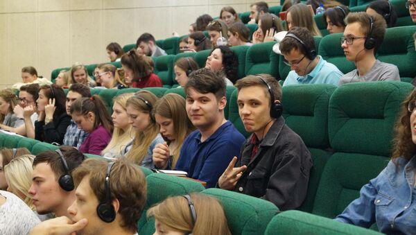 Studenti della facoltà di Studi Internazionali e Gestione Regionale dell'Università RANEPA di Mosca - Sputnik Italia