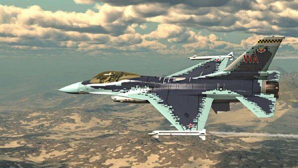 Американский истребитель четвертого поколения F-16C Fighting Falcon  - Sputnik Italia