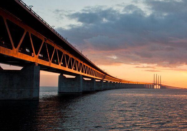 Il tunnel-ponte di Øresund, che collega Copenhagen a Malmoe  - Sputnik Italia