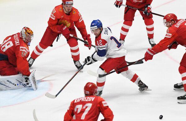 La partita di hockey tra Russia e Repubblica Ceca. - Sputnik Italia
