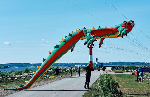Il festival degli aquiloni a Kronstadt - Sputnik Italia