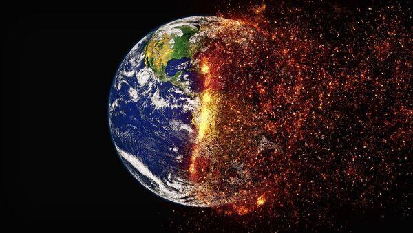 Illustrazione raffigurante il riscaldamento globale - Sputnik Italia