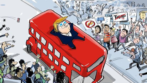 Trump a Londra: ma quali proteste, gli inglesi mi amano - Sputnik Italia