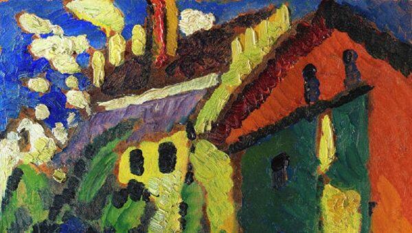 Quadro di Vasily Kandinsky Scalinata al castello - Sputnik Italia